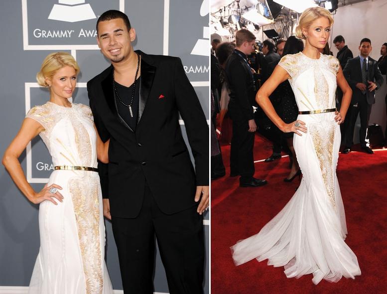Paris-Hilton-si-DJ-Afrojack-pe-covorul-rosu-la-Grammy-Awards-2012